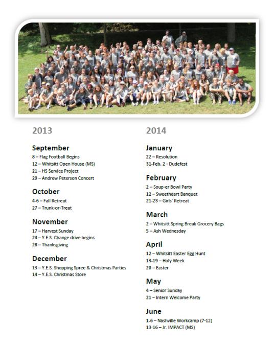 Back-to-School Bash Calendar 2013